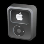 ไอคอน iPod วิดีโอดำ