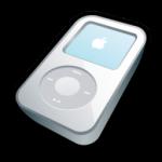 iPod วิดีโอไอคอนสีขาว