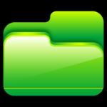 โฟลเดอร์ไอคอนสีเขียวเปิด