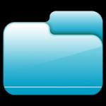 โฟลเดอร์ปิดไอคอนสีฟ้า