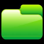 โฟลเดอร์ปิดไอคอนสีเขียว