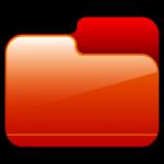 โฟลเดอร์ปิดไอคอนสีแดง