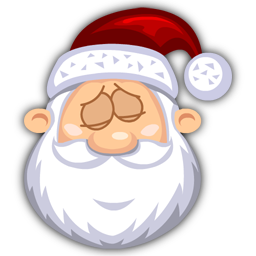Sleeping SantaClaus icon